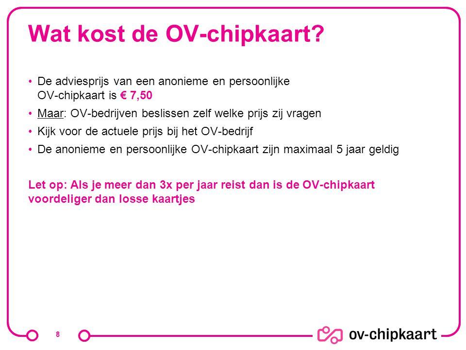 Wat kost de OV-chipkaart