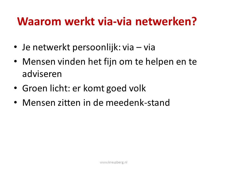 Waarom werkt via-via netwerken