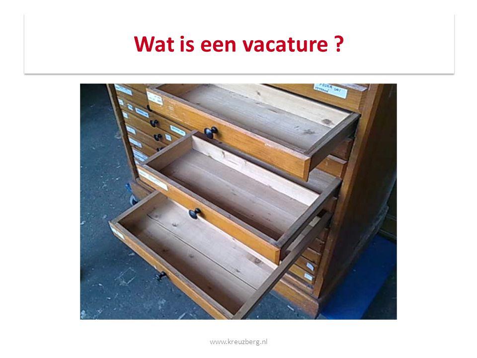Wat is een vacature www.kreuzberg.nl