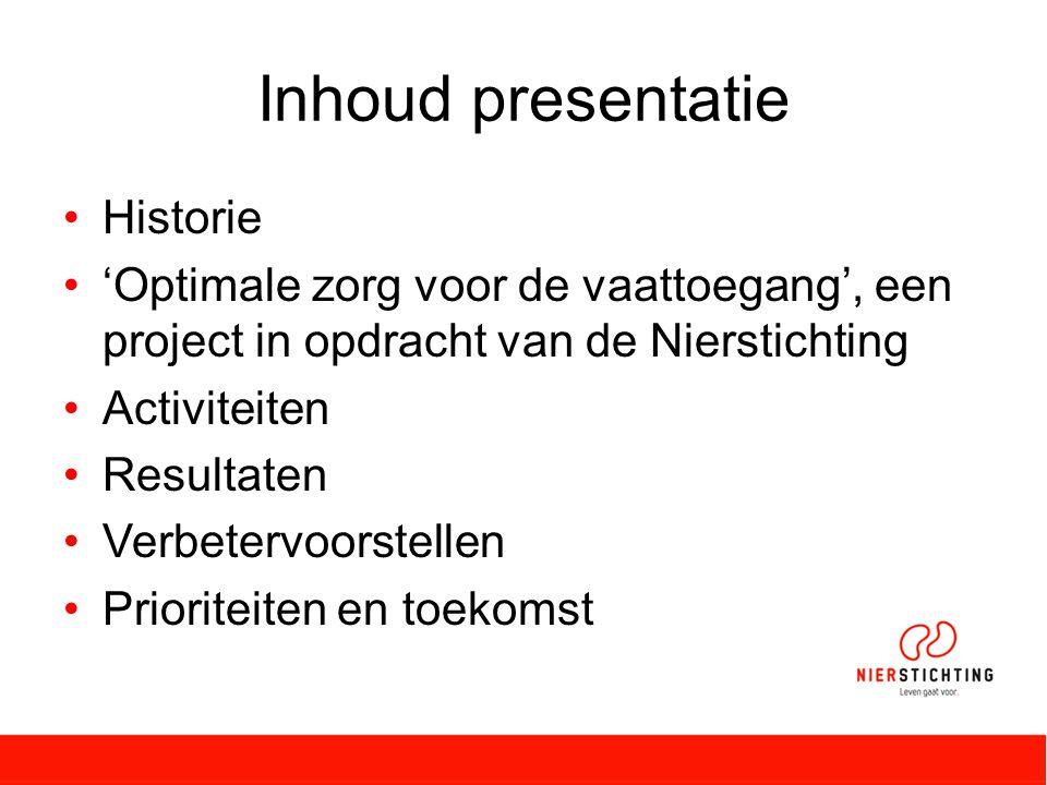 Inhoud presentatie Historie