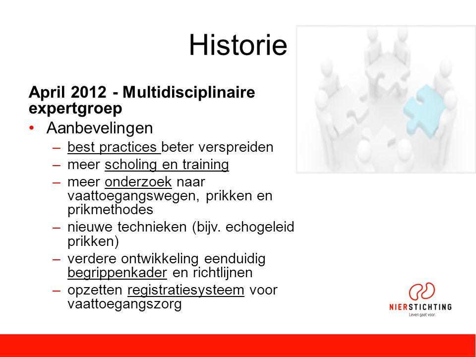 Historie April 2012 - Multidisciplinaire expertgroep Aanbevelingen
