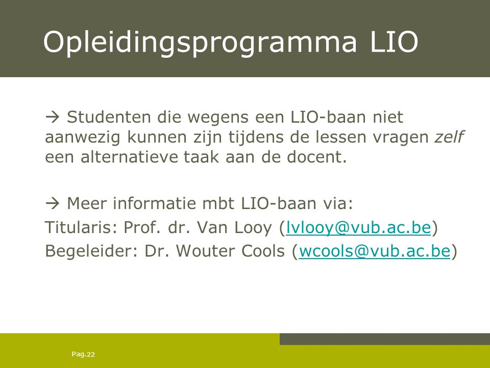 Opleidingsprogramma LIO