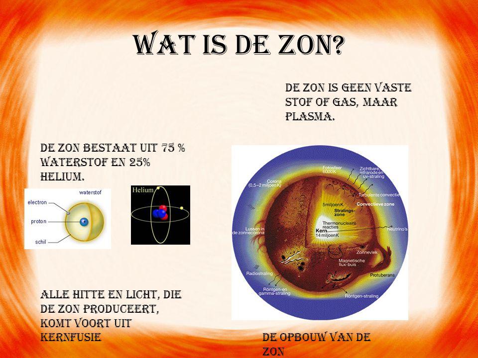 Wat is de zon De zon is geen vaste stof of gas, maar plasma.