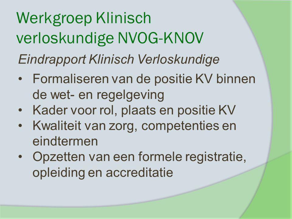 Werkgroep Klinisch verloskundige NVOG-KNOV