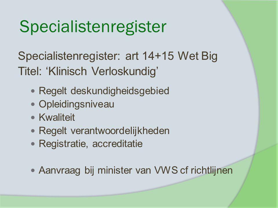 Specialistenregister