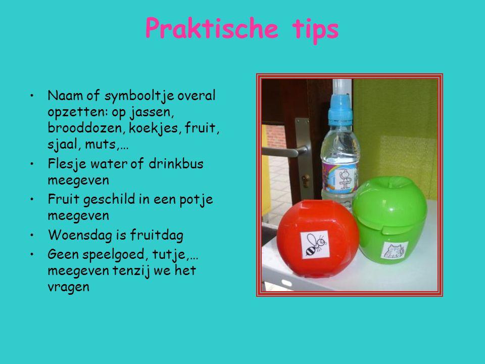 Praktische tips Naam of symbooltje overal opzetten: op jassen, brooddozen, koekjes, fruit, sjaal, muts,…