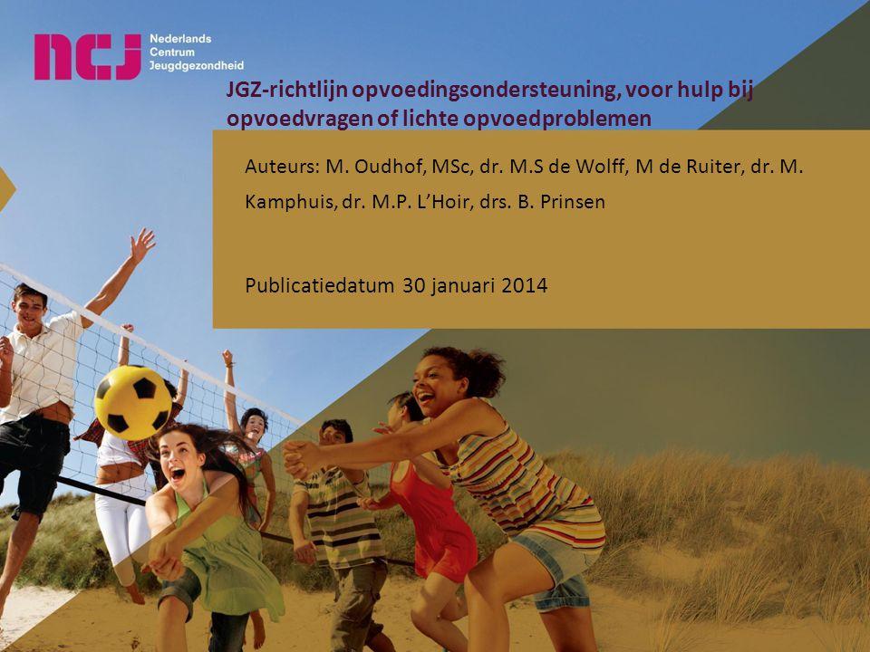 JGZ-richtlijn opvoedingsondersteuning, voor hulp bij