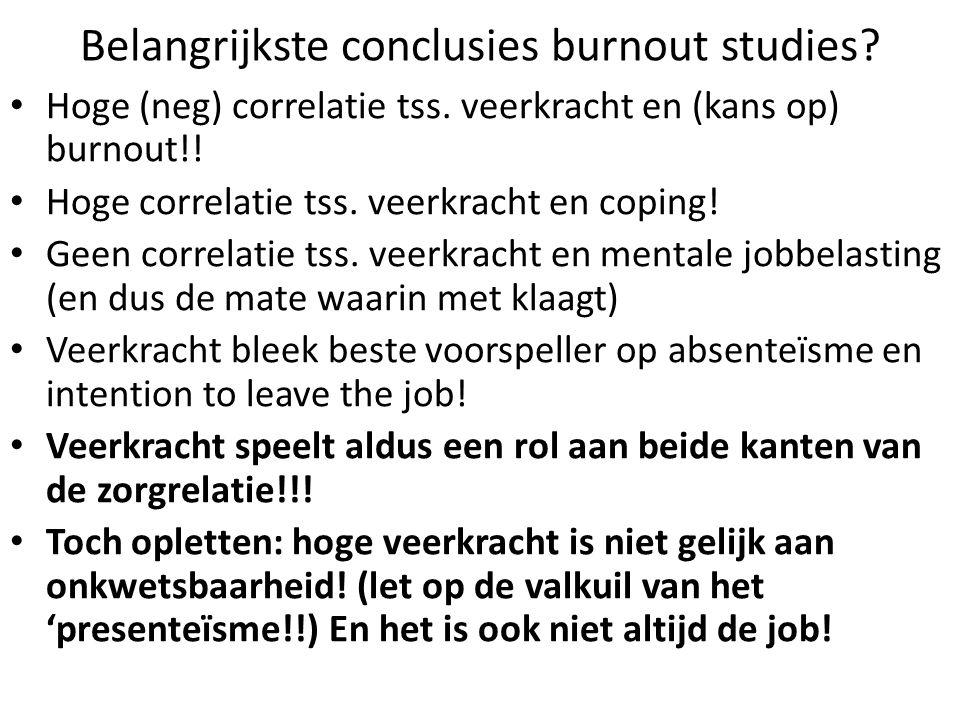 Belangrijkste conclusies burnout studies