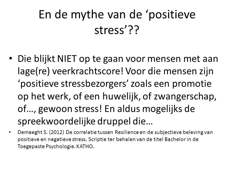 En de mythe van de 'positieve stress'