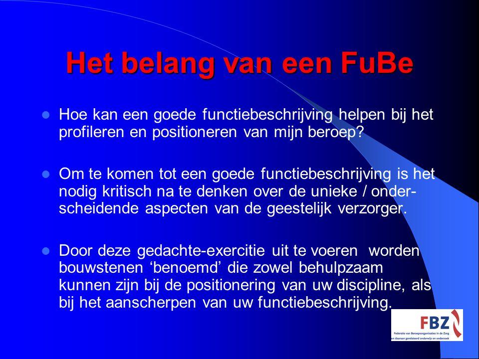 Het belang van een FuBe Hoe kan een goede functiebeschrijving helpen bij het profileren en positioneren van mijn beroep