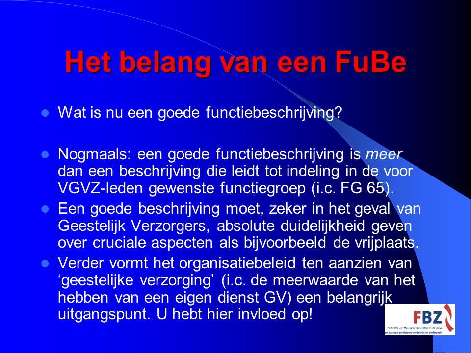 Het belang van een FuBe Wat is nu een goede functiebeschrijving
