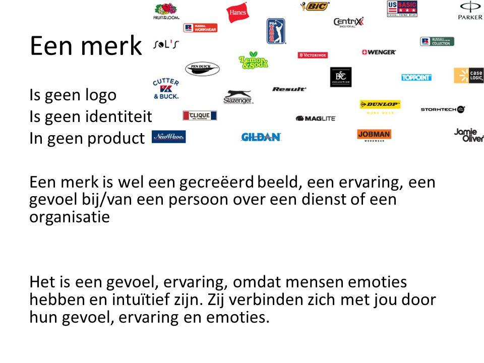 Een merk Is geen logo Is geen identiteit In geen product