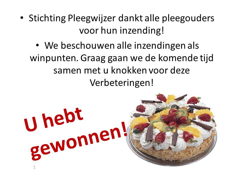 Stichting Pleegwijzer dankt alle pleegouders voor hun inzending!