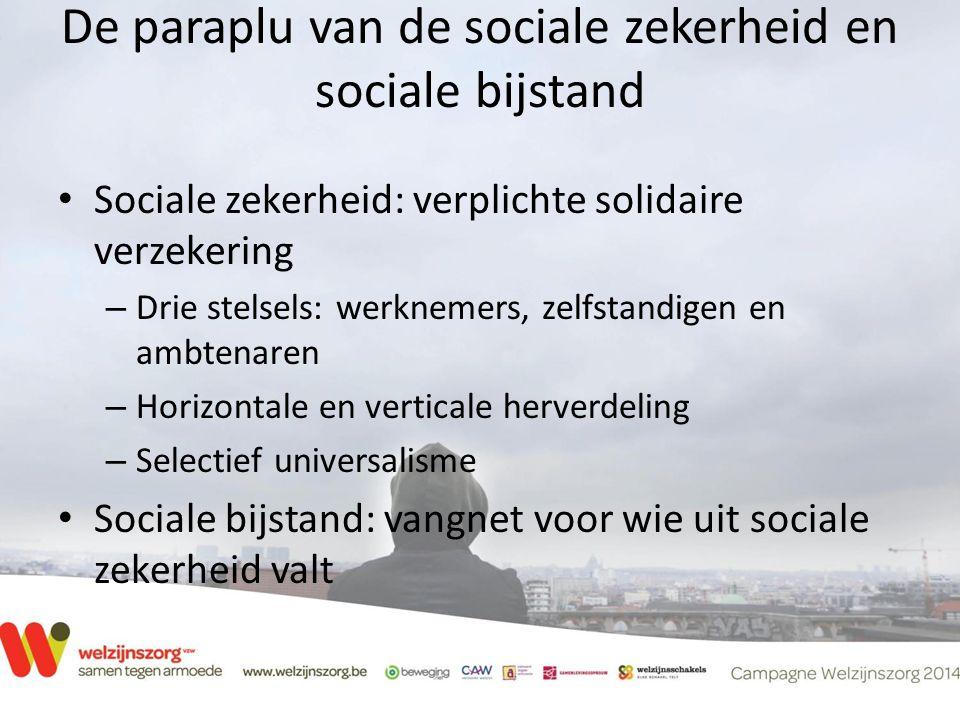 De paraplu van de sociale zekerheid en sociale bijstand