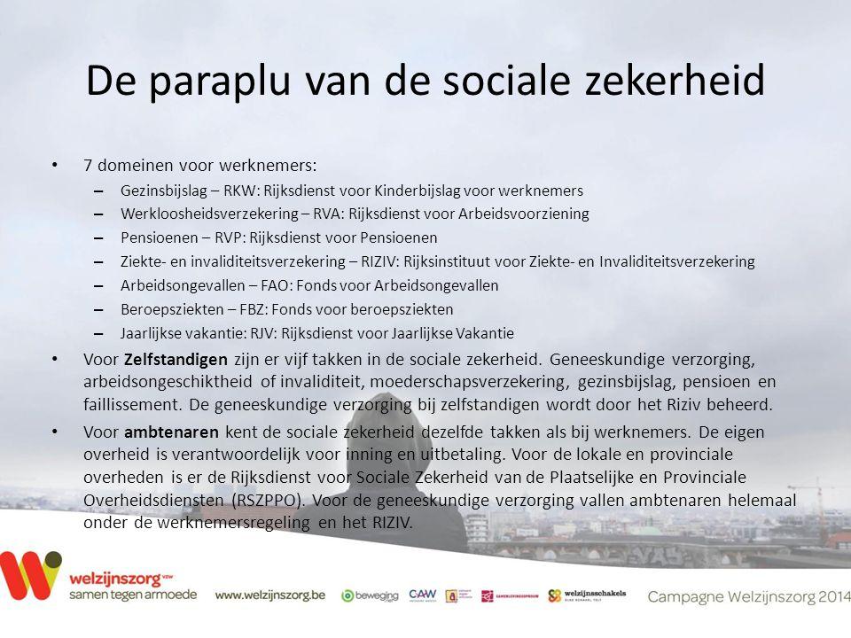 De paraplu van de sociale zekerheid