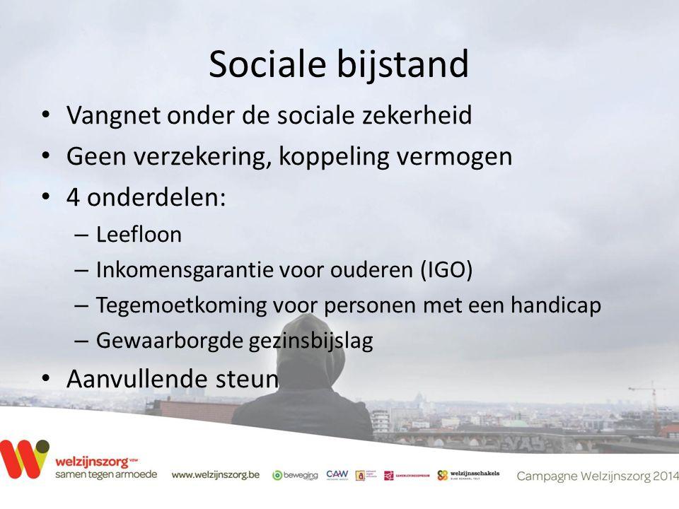 Sociale bijstand Vangnet onder de sociale zekerheid