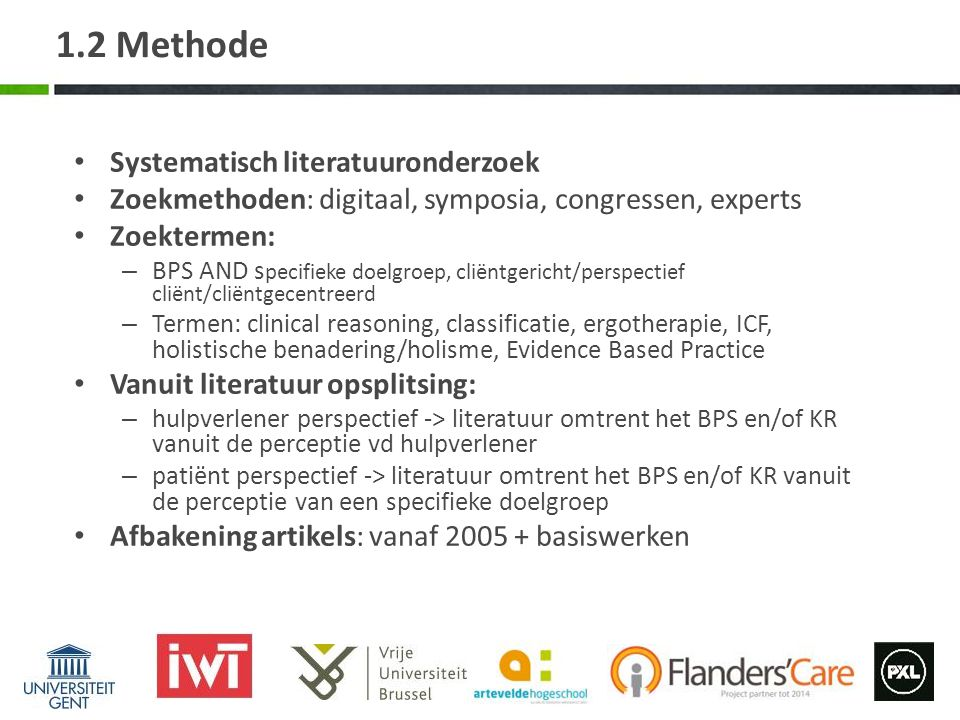 1.2 Methode Systematisch literatuuronderzoek