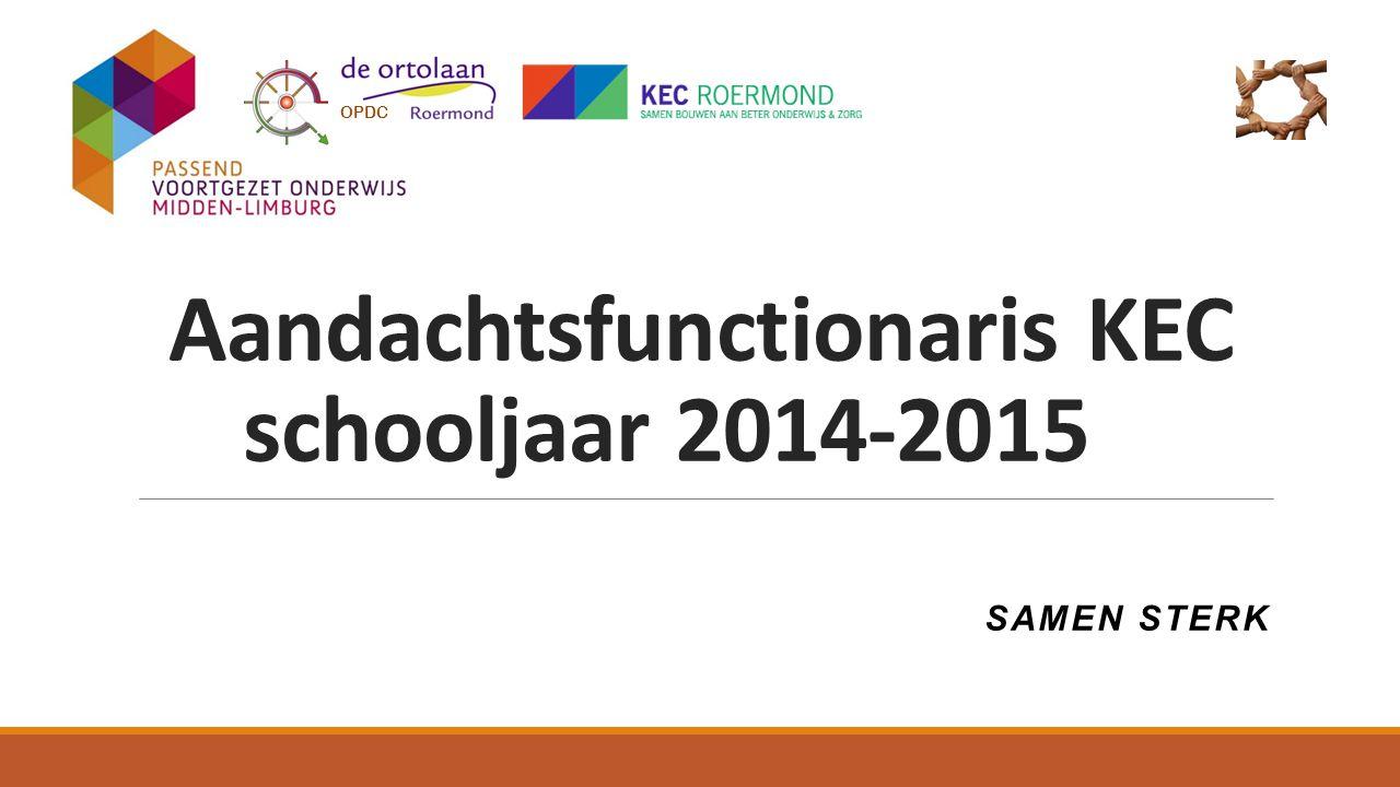 Aandachtsfunctionaris KEC schooljaar 2014-2015