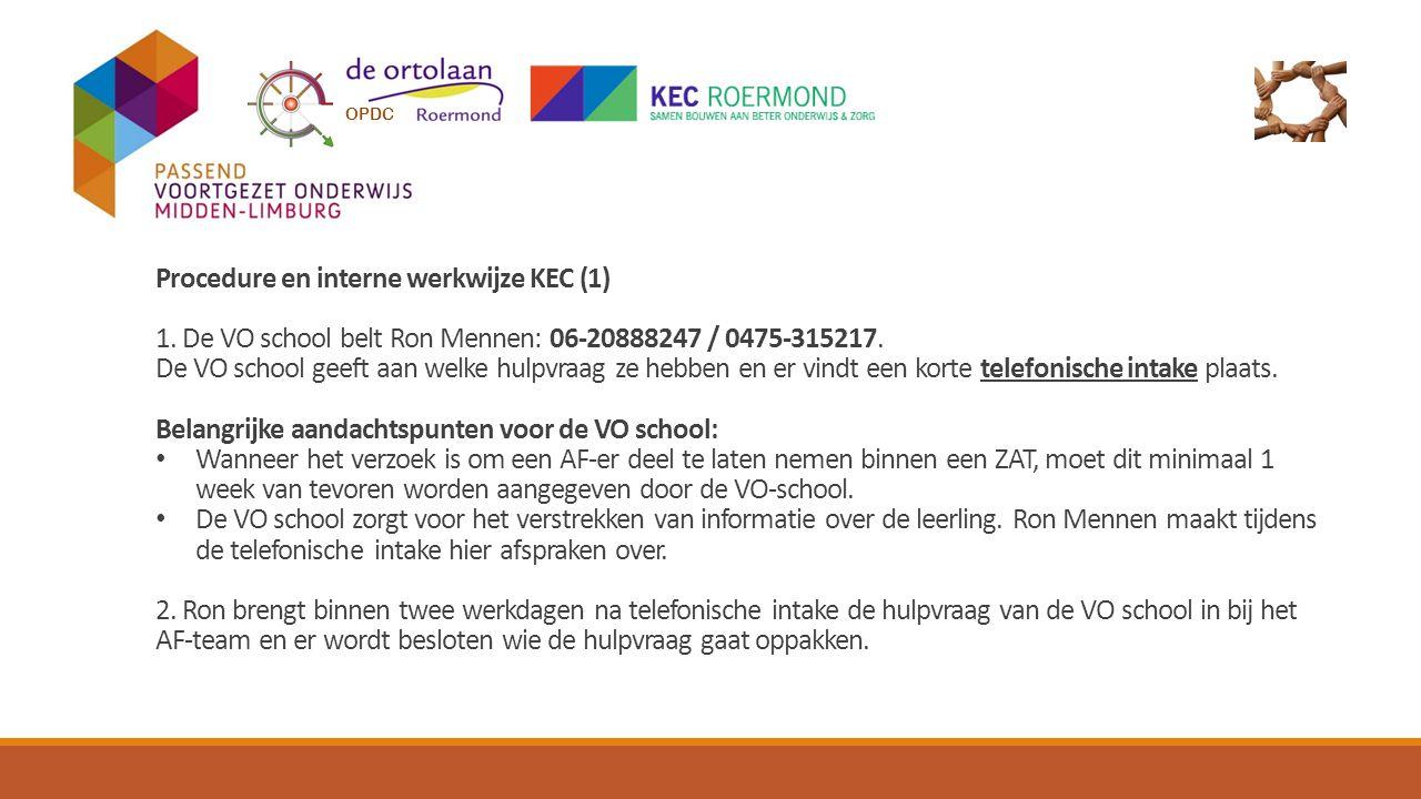 Procedure en interne werkwijze KEC (1)
