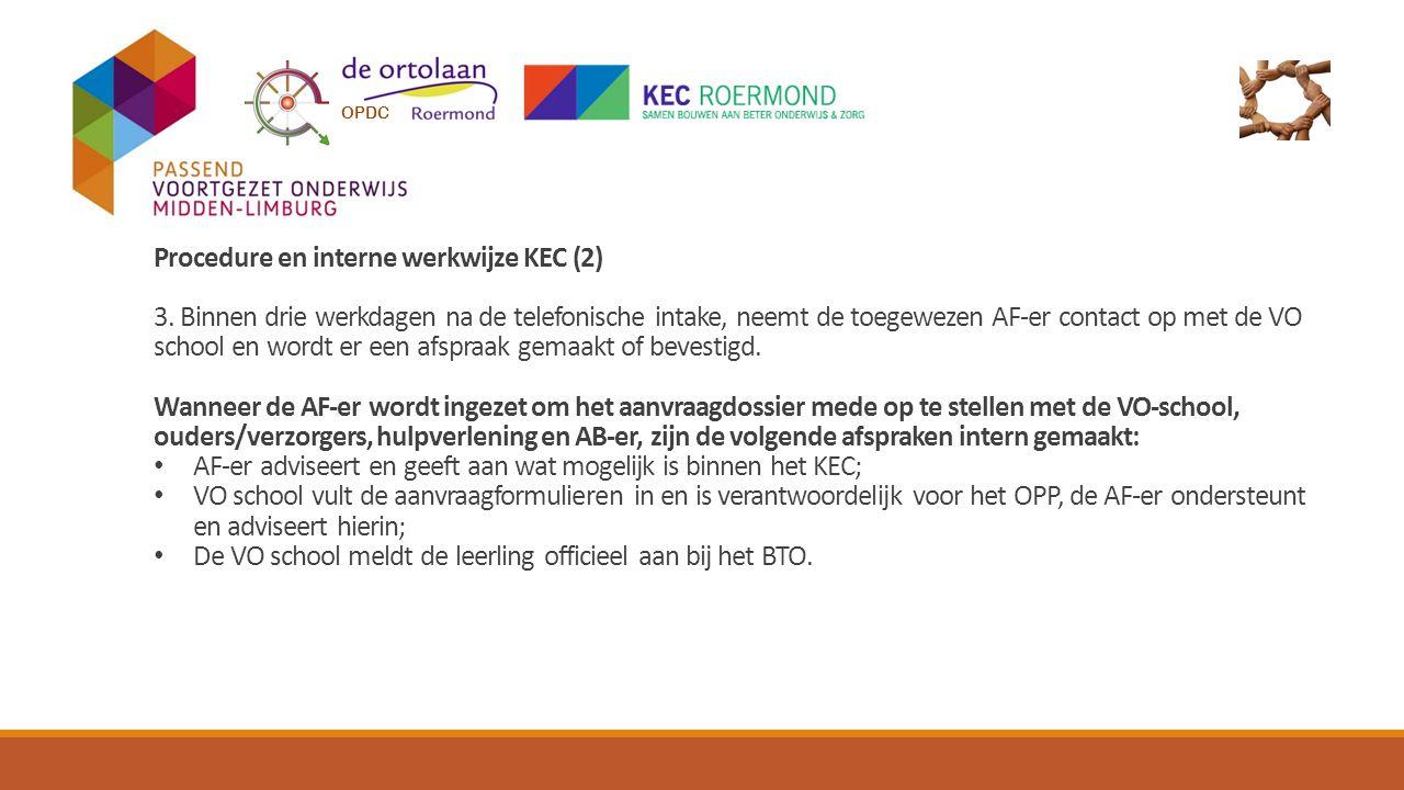 Procedure en interne werkwijze KEC (2)
