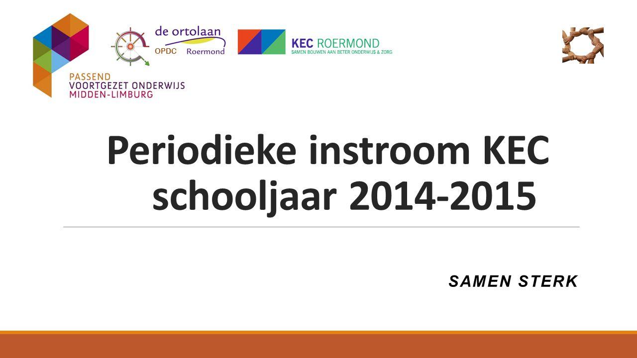 Periodieke instroom KEC schooljaar 2014-2015