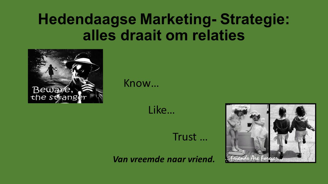 Hedendaagse Marketing- Strategie: alles draait om relaties