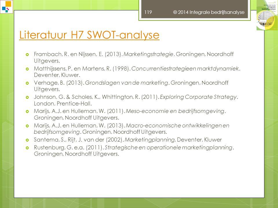 Literatuur H7 SWOT-analyse