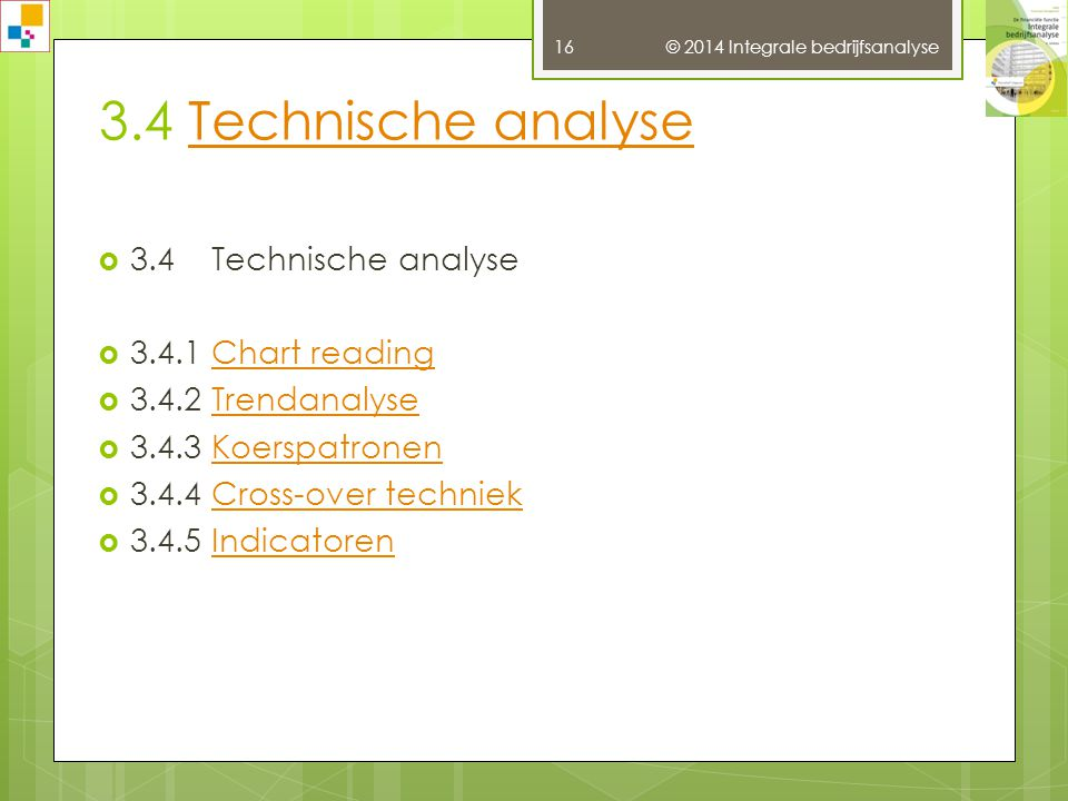 3.4 Technische analyse 3.4 Technische analyse 3.4.1 Chart reading