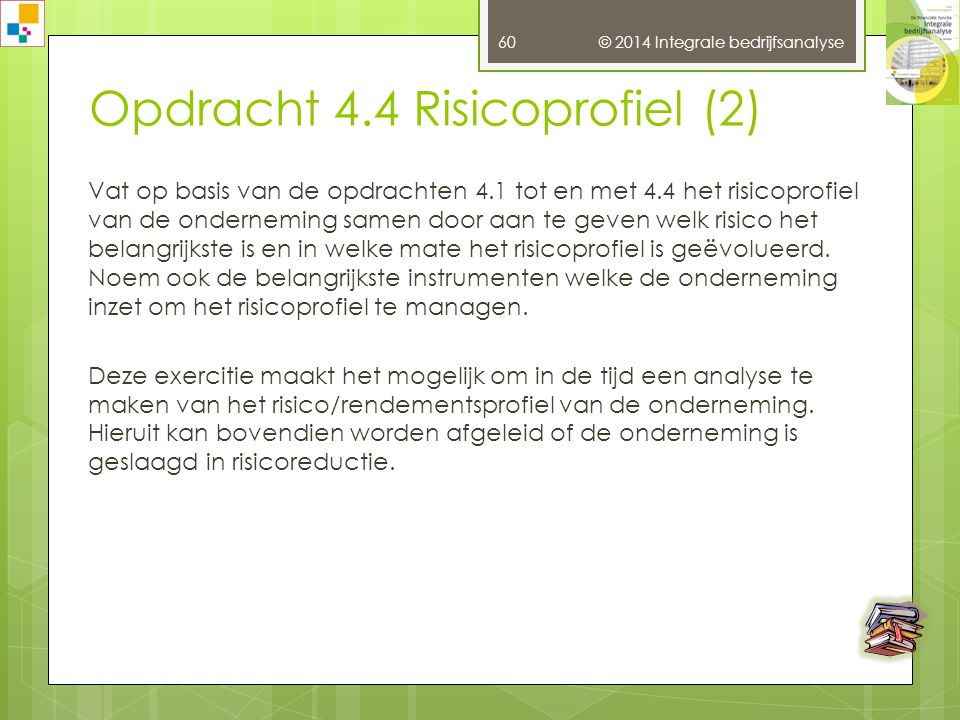 Opdracht 4.4 Risicoprofiel (2)