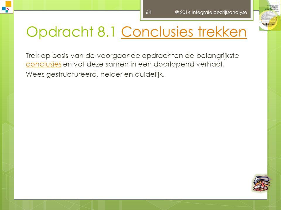 Opdracht 8.1 Conclusies trekken