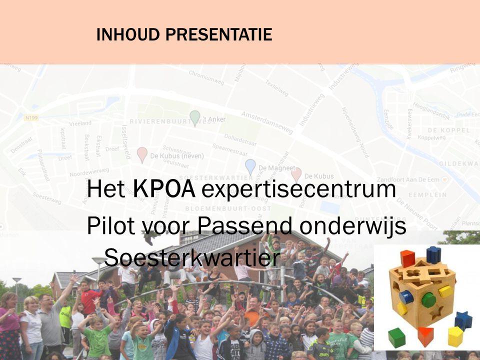 Het KPOA expertisecentrum Pilot voor Passend onderwijs Soesterkwartier
