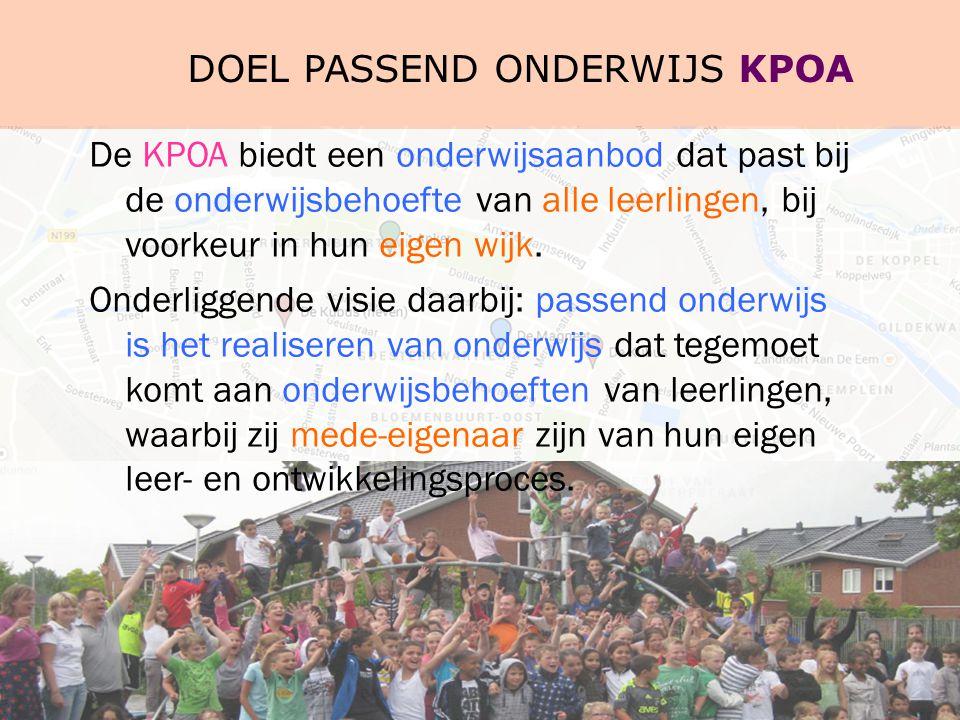 Doel passend onderwijs KPOA