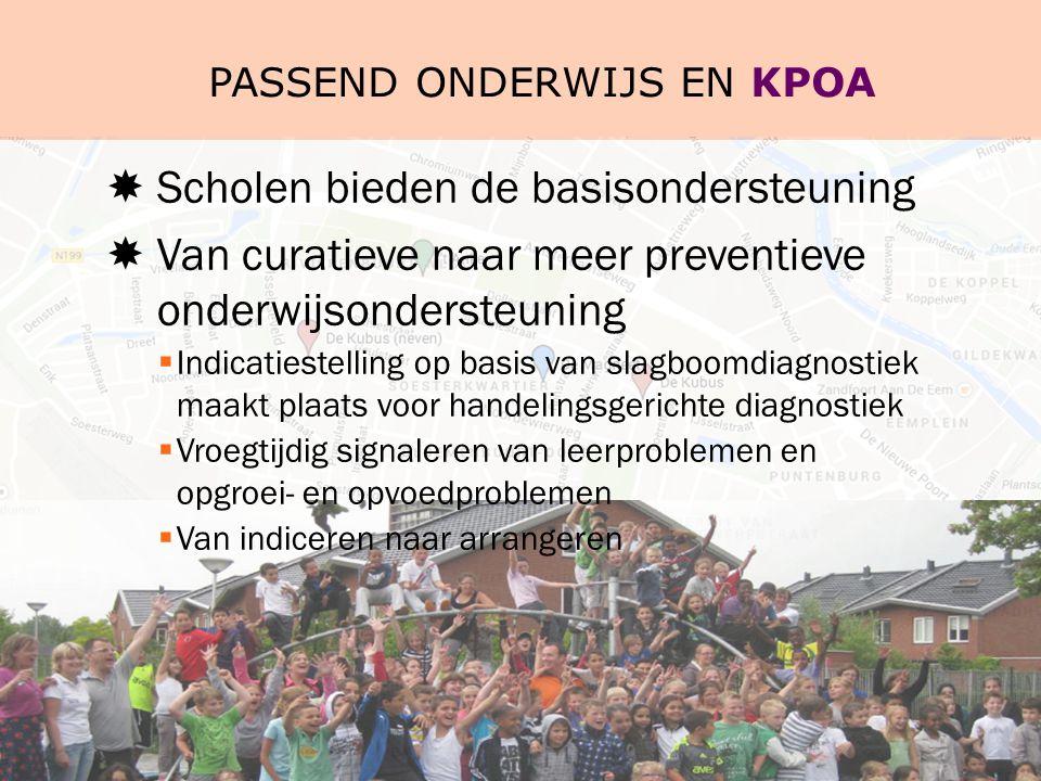 Passend onderwijs en KPOA