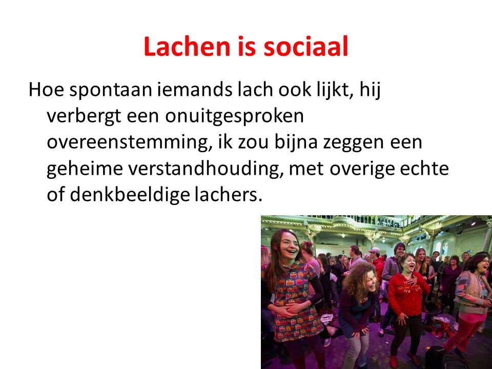 Lachen is sociaal