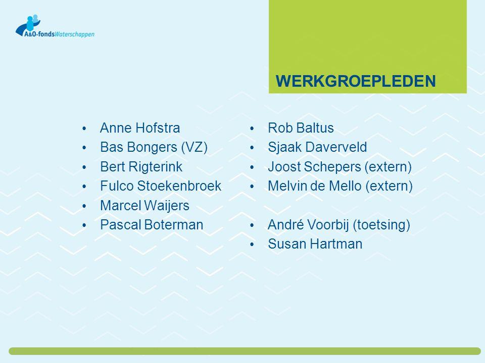 wErkgroepleden Anne Hofstra Bas Bongers (VZ) Bert Rigterink
