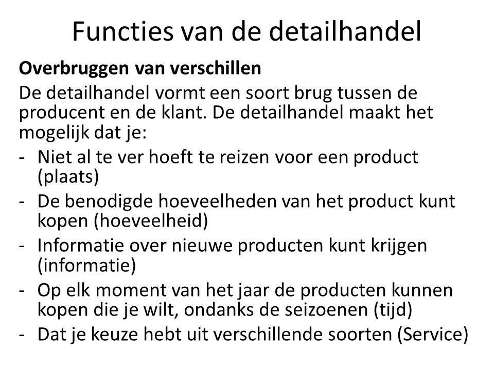 Functies van de detailhandel