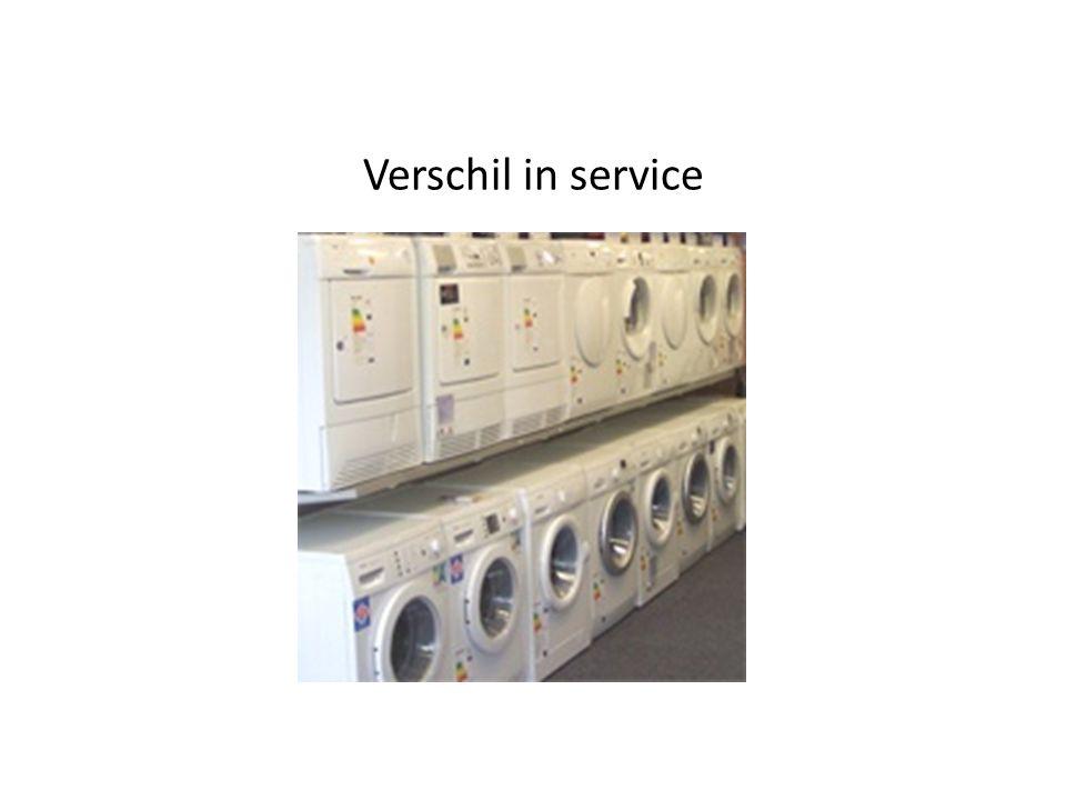 Verschil in service