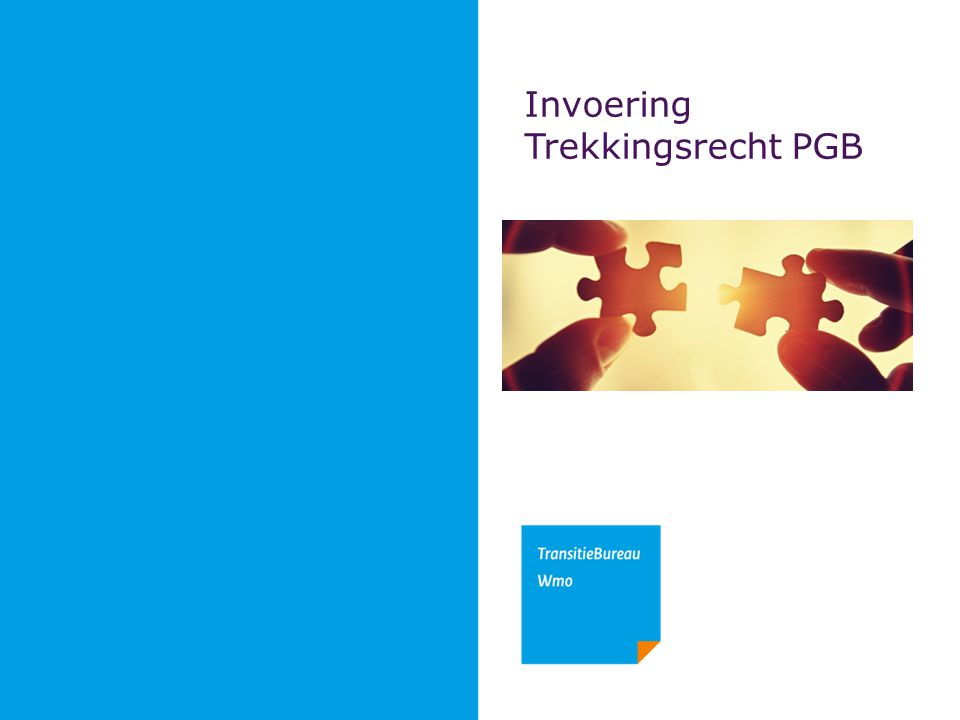 Invoering Trekkingsrecht PGB
