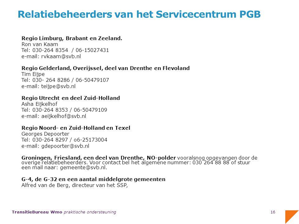 Relatiebeheerders van het Servicecentrum PGB