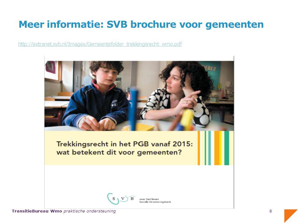 Meer informatie: SVB brochure voor gemeenten http://extranet. svb