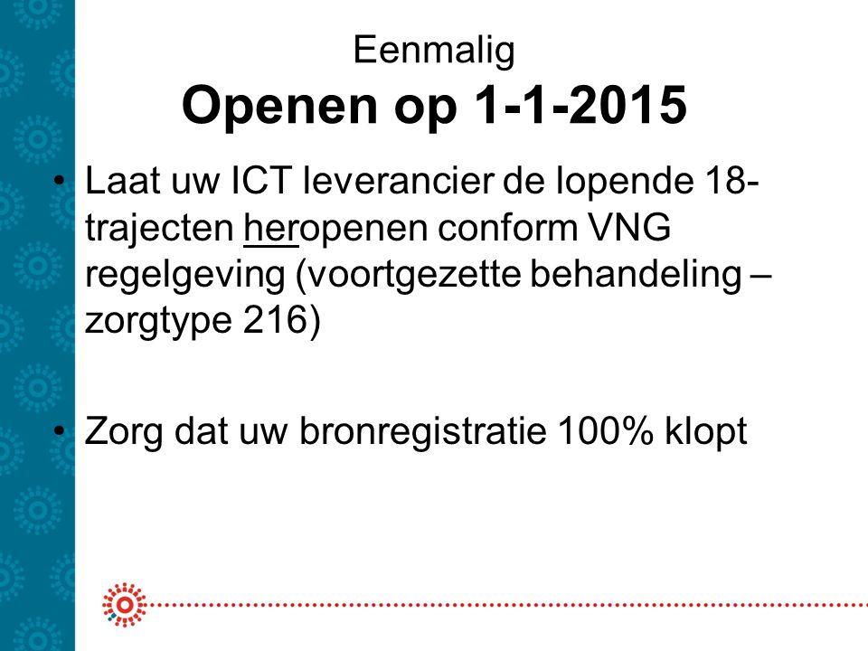 Eenmalig Openen op 1-1-2015