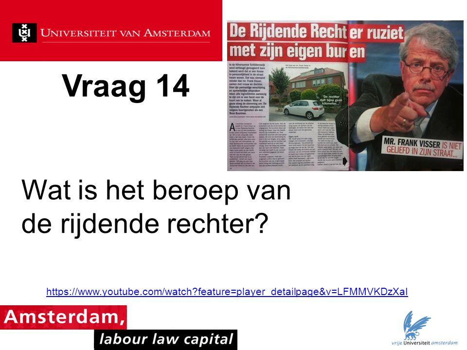 Vraag 14 Wat is het beroep van de rijdende rechter