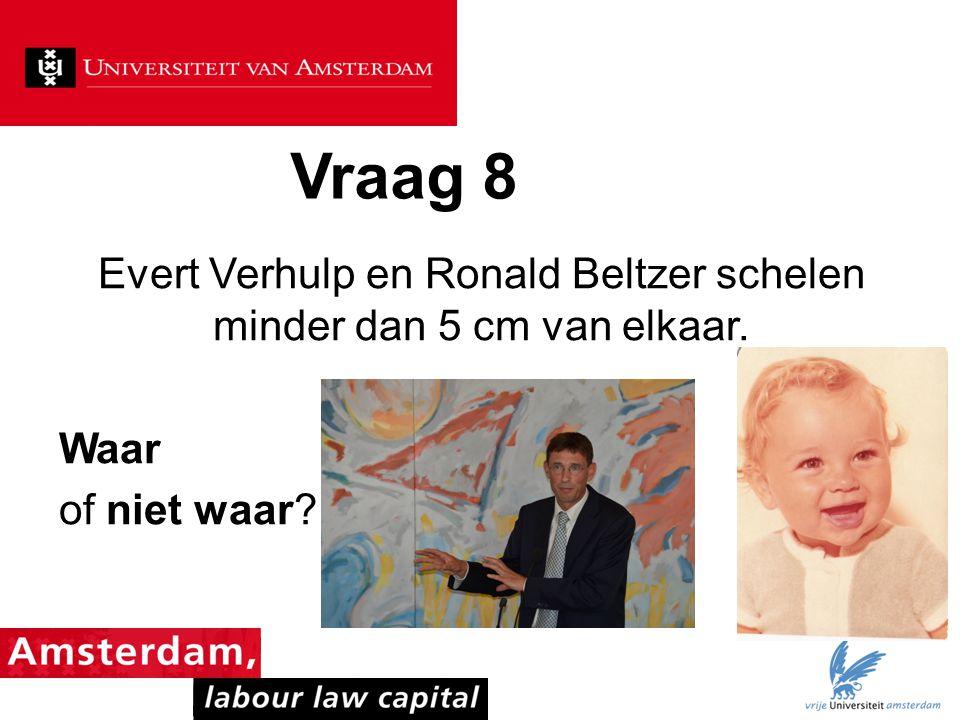 Evert Verhulp en Ronald Beltzer schelen minder dan 5 cm van elkaar.