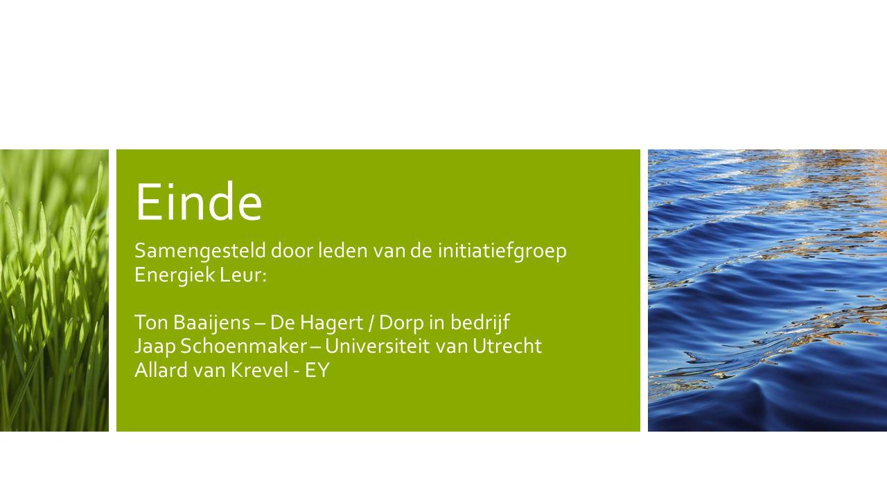 Einde Samengesteld door leden van de initiatiefgroep Energiek Leur:
