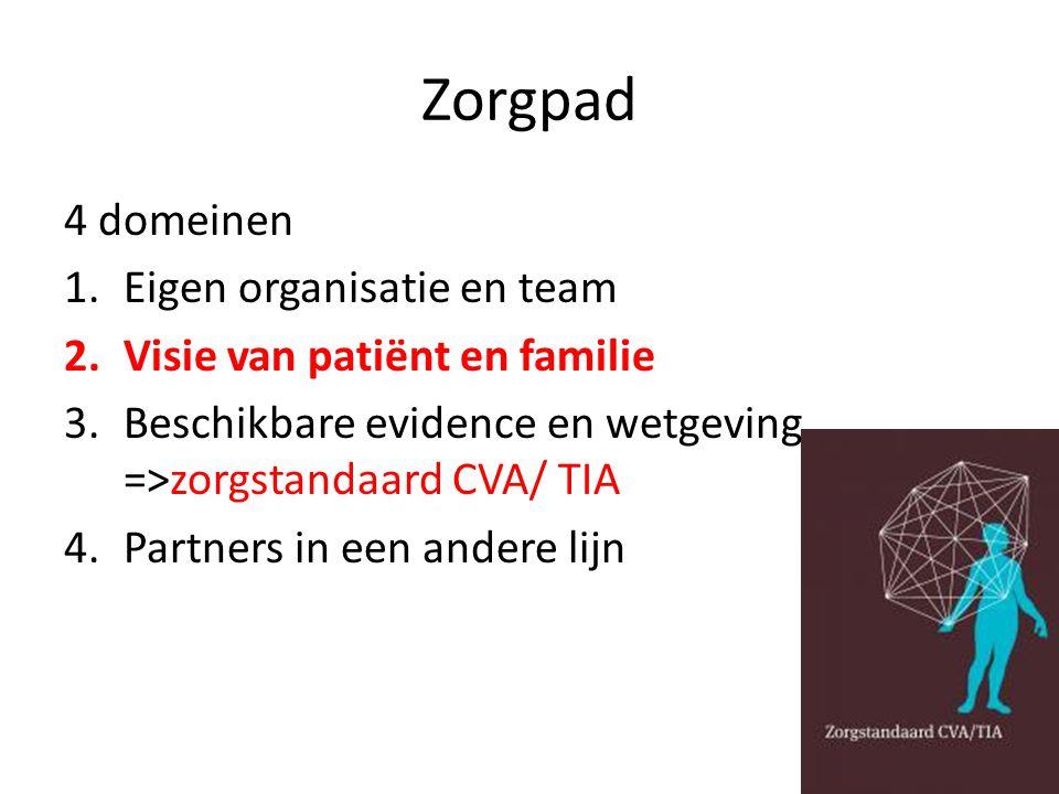 Zorgpad 4 domeinen Eigen organisatie en team