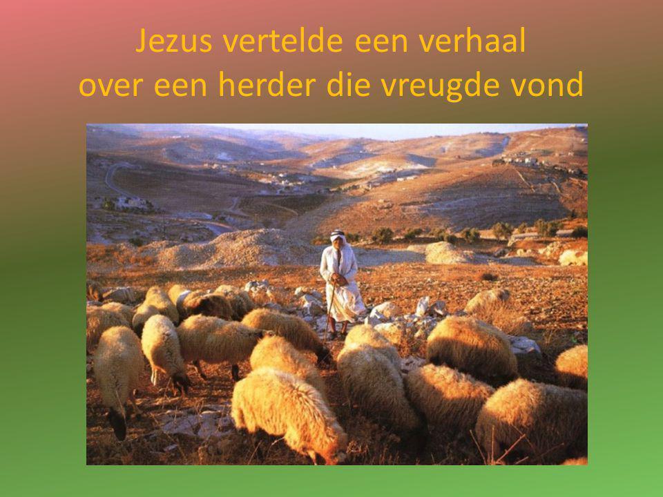 Jezus vertelde een verhaal over een herder die vreugde vond