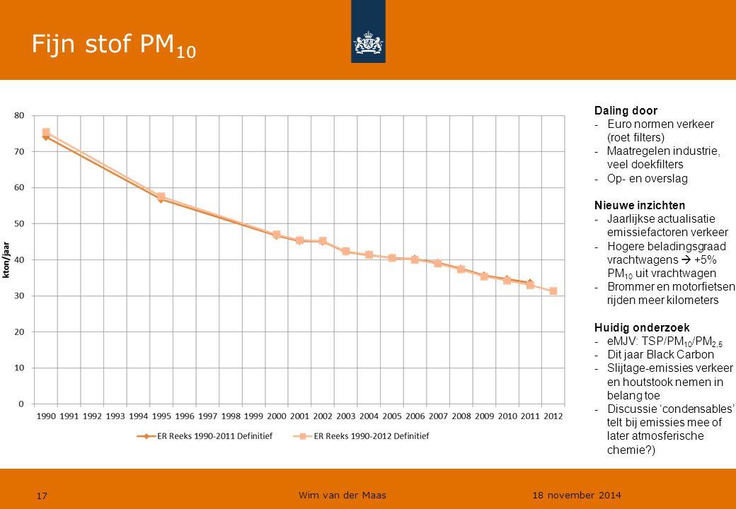 Fijn stof PM10 Daling door Euro normen verkeer (roet filters)