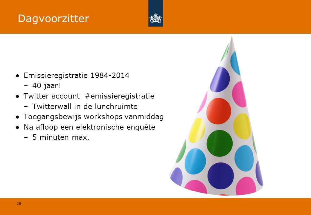 Dagvoorzitter Emissieregistratie 1984-2014 40 jaar!