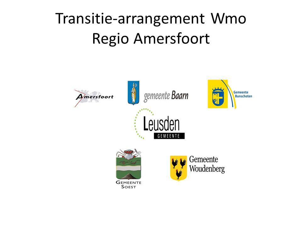 Transitie-arrangement Wmo Regio Amersfoort