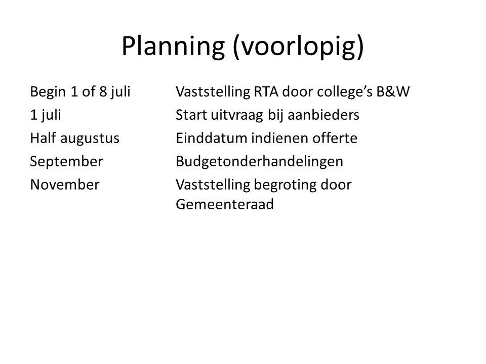 4/6/2017 Planning (voorlopig)